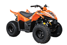 ATV's sold at Talladega Cycle Sales in Talladega, AL.